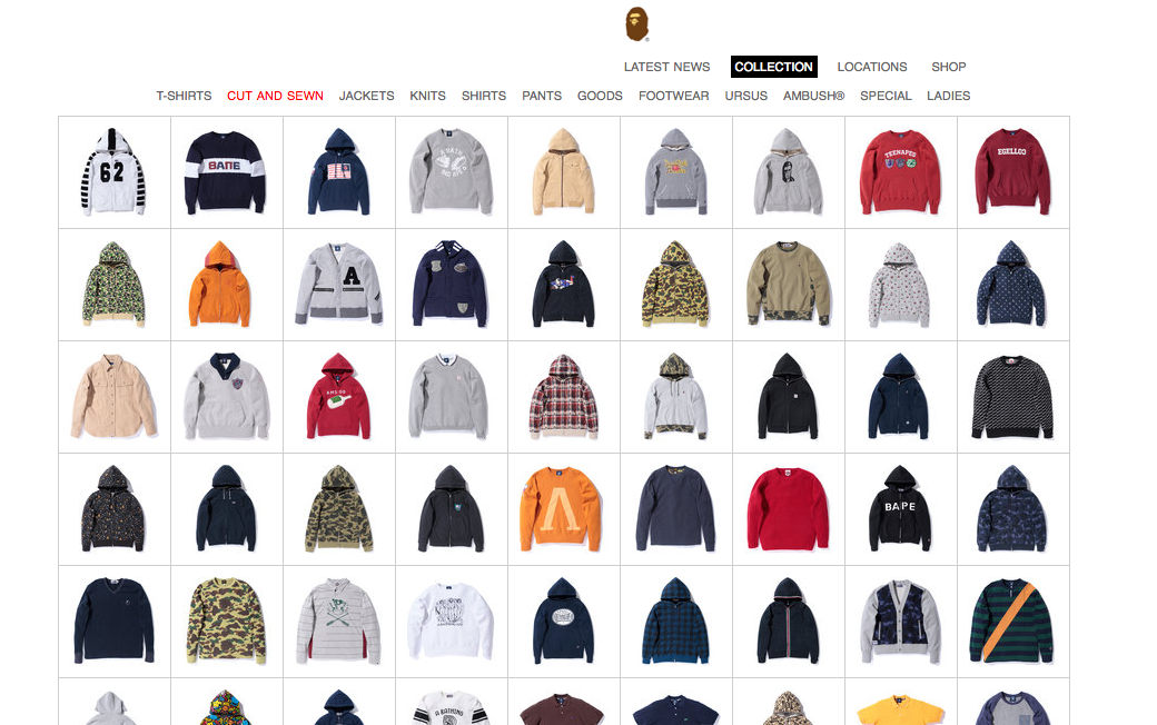 I Havent Been On It In Forever But Bape Has A Brand New Website Seems Like The Brand Has Been Through A Thorough Brand Revamp Since Being Purchased By